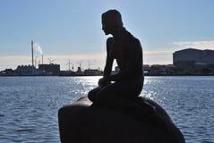 Маленький Mermaid, символ Копенгаген Стоковые Изображения RF