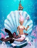 маленький mermaid 3 Иллюстрация вектора