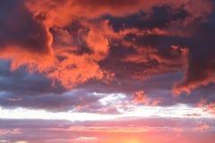 Малиновое небо стоковое фото rf