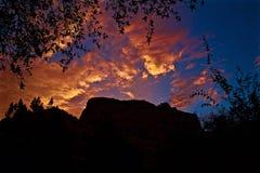 Малиновый восход солнца Sedona на курорте очарования Стоковое Изображение