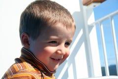 малое мальчика счастливое Стоковая Фотография