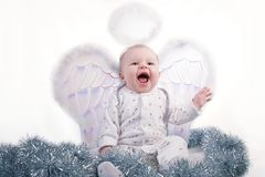 малое младенца счастливое Стоковое Фото
