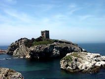 малое острова замока старое Стоковые Изображения