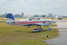 малое самолета светлое Стоковое фото RF