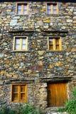 Малое типичное горное село сланца Стоковое Фото