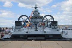 Малое ` Evgeny Kocheshkov ` корабля десантного катера на пристани Стоковая Фотография