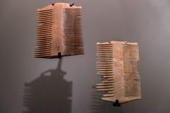 Малые гребни найденные на месте Qumran Музей Израиля, Иерусалим Isra стоковое фото rf