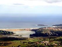 Малые деревни Cantabrian морем стоковые фото