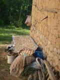 Малые заявления тортов на ткани, который нужно высушить в саде сельского дома в Турции Стоковое фото RF