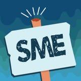Малые и средние предприятия текста почерка Компания смысла концепции с предприятием отсутствие больше чем 500 работников малым ср иллюстрация вектора