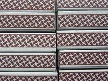 Малые коробки спички штабелированные вверх Стоковое Фото