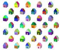 Малые покрашенные дома Стоковое Изображение RF