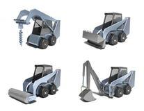малые тракторы иллюстрация вектора