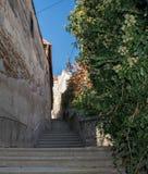 Малые улицы в Veszprém, Венгрии, Европе стоковое изображение rf