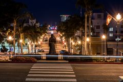 Малые уличные фонари городка пляжа стоковое фото rf