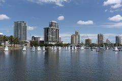 Малые яхты Санкт-Петербург, Флорида, США Стоковое фото RF