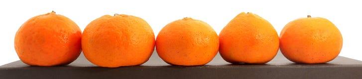 Малые tangerines меда изолированные на белизне Стоковая Фотография RF