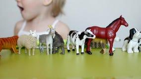 Малый животный мир детских игр с учить игрушки, начинает логику и motility, способность различить животных видеоматериал