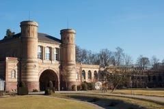 Малый замок сада стоковые изображения rf