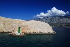 Малый зеленый маяк Стоковое фото RF