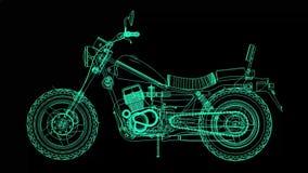 Малый классический велосипед тяпки Модель вращается вокруг центра сток-видео