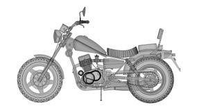 Малый классический велосипед тяпки Модель вращается вокруг центра акции видеоматериалы