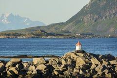 Малый маяк в Eggum Стоковое Фото