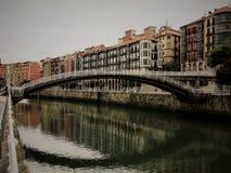 малый мост Бильбао Испании Стоковые Фотографии RF