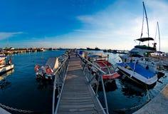 Малый мост в пристани Стоковое фото RF