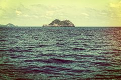 Малый остров в винтажном стиле Стоковая Фотография