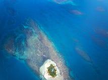 Малый остров на море картины Стоковая Фотография RF