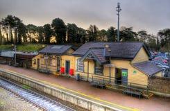 малый поезд станции стоковые изображения