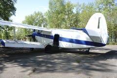 Малый самолет с винтом Стоковая Фотография