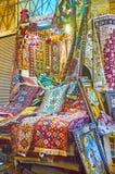 Малый стойл ковра в базаре Vakil, Ширазе, Иране Стоковое Изображение