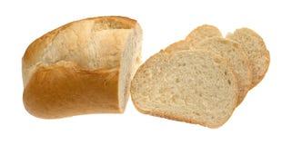 Малый хлебец белого хлеба с кусками Стоковые Изображения