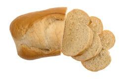 Малый хлебец белого хлеба с кусками Стоковое Изображение