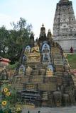 2 малых виска на Bodh Gaya Стоковые Изображения RF