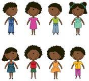 малыши афроамериканца счастливые Стоковое Изображение