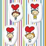 Малыши влюбленности иллюстрация вектора