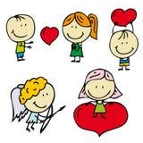 Малыши влюбленности бесплатная иллюстрация