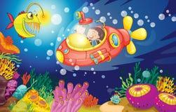 Малыши в воде бесплатная иллюстрация