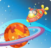 Малыши в космическом корабле Стоковые Фото