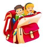 Малыши в мешке иллюстрация вектора