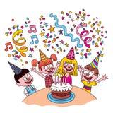 Малыши дня рождения Стоковые Фотографии RF