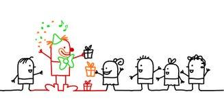 малыши дня рождения иллюстрация штока