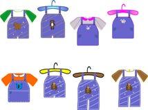 малыши иллюстраций одежды Стоковая Фотография RF
