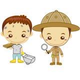 Малыши и jobs16 Стоковые Фото