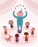 малыши мальчика жонглируя Стоковая Фотография