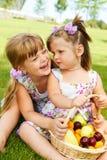 малыши плодоовощ корзины Стоковая Фотография RF