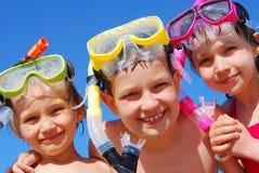 малыши подготавливают заплывание стоковое фото rf